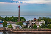 Russia-Saint Petersburg-Kotlin Island-Kronstadt Lighthouse rear
