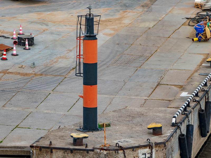 Russia-Saint Petersburg-Big port Saint Petersburg-Yuzhnoy Damba light
