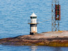 Finland-Helsinki- Koirakari lighthouse and Koirakari Front Range light (sceletal tower)<br /> Lighthouse