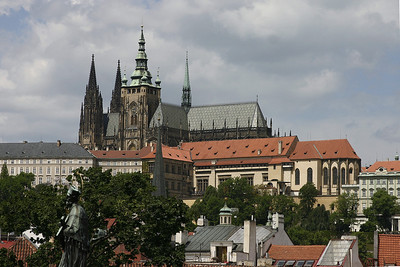 St. Vitus Cathedral, Prague, Czech Republic, viewed from The Charles Bridge