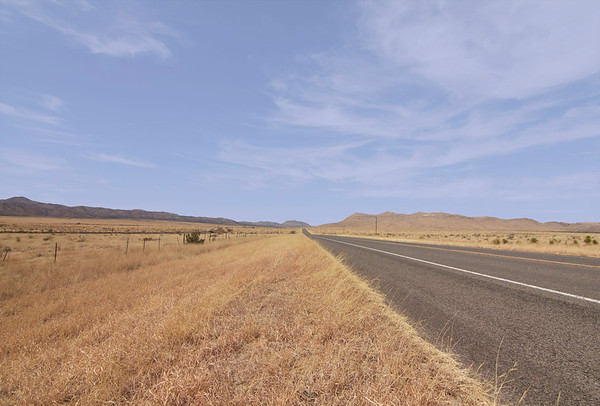 Driving from Fort Davis to Guadalupe Mountains