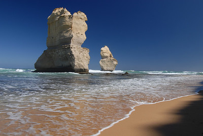 Two of the Twelve Apostles (I'm not sure how many of these landforms there actually are, but I don't think it's 12 anymore) taken from Gibson's Beach