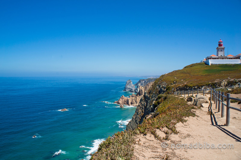 Cabo da Roca, continental Europe's westernmost point in Sintra (Portugal)