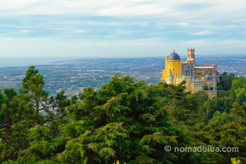 View of the Penha Palace in Sintra