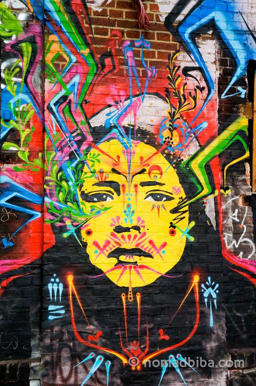 Street art by StinkFish in Berlin