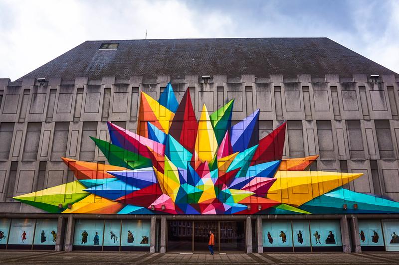 Entrance to the Musée des Beaux-Arts de la Ville de Liège in Belgium