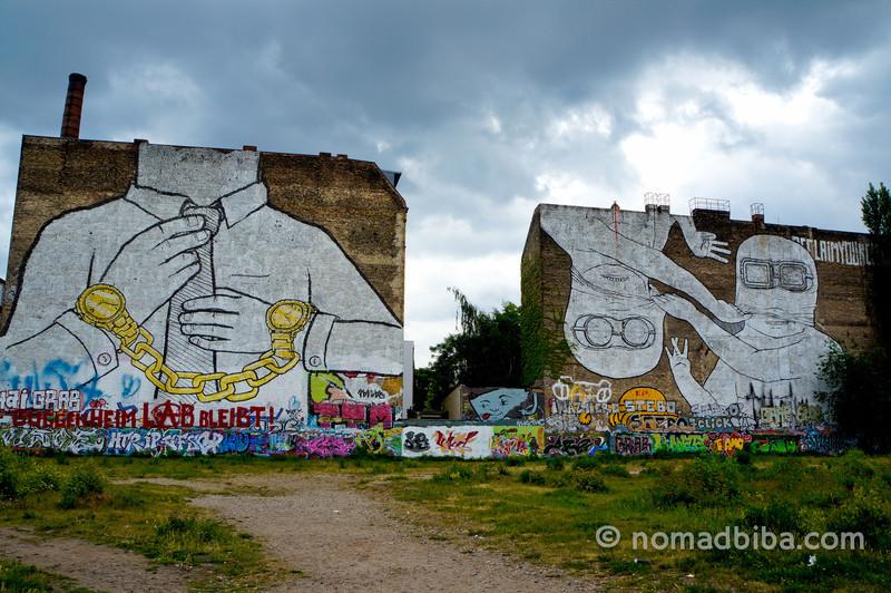 Street art by Blu in Berlin