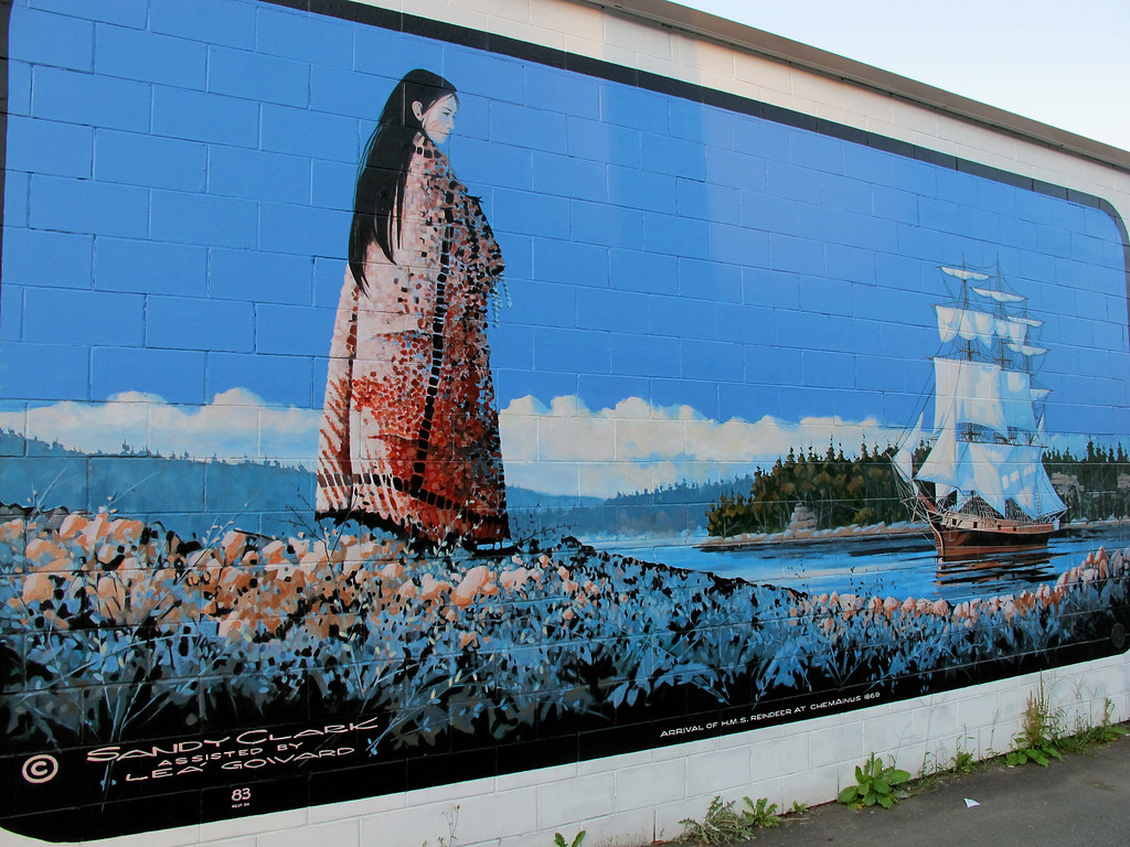 "My favorite mural in Chemainus ""Arrival of the ""Reindeer"" in Horseshoe Bay"" For the story, check out my post <a href=""http://www.nomadbiba.com/wp/2011/09/chemainus-the-little-town-that-did/"">Chemainus – The Little Town That Did</a>"