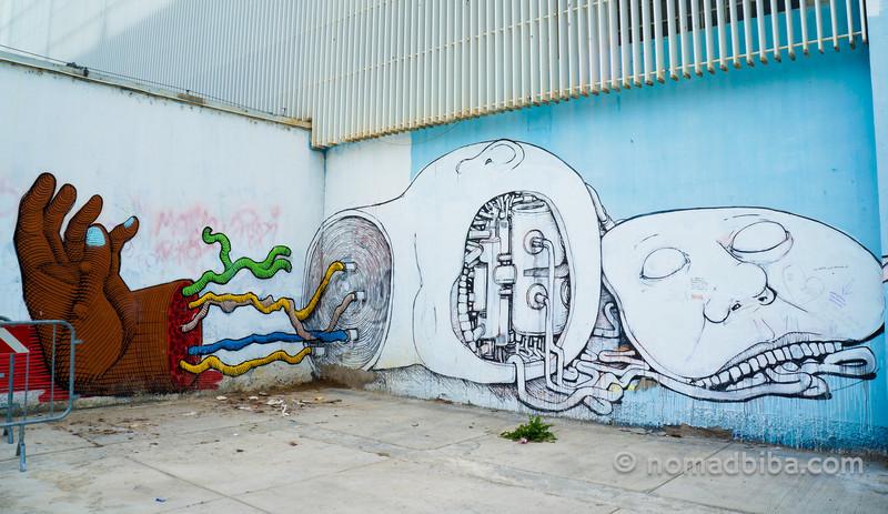 Nunca & Blu mural in Modena