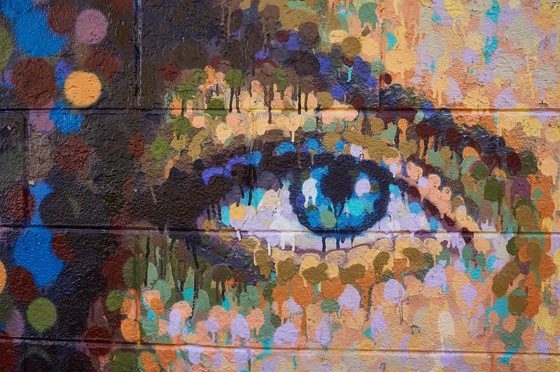 Detail of mural by James Cochran (AKA Jimmy C) in Hasselt, Belgium