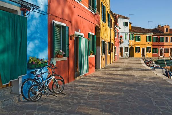 """""""Burano Bikes"""" - Burano, Italy"""