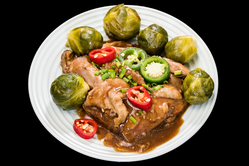 Slowly roasted lamb shoulder with Brussels sprouts and brown onion gravy<br /> #dinner #yummylummy #foodporn #yummy #delicious #instafood #nikon