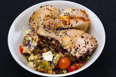 Chicken and crispy cheesy quinoa rice