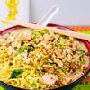 Curry salmon noodles