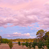 Clouds over Lake Ginninderra at sunset