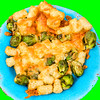Cheesy potato gems with Brussels sprouts