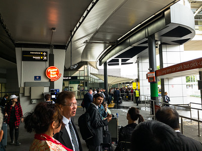 Taxi rank at Melbourne airport