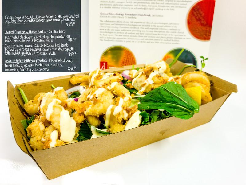 Crispy squid salad