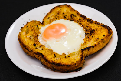 Fried egg in toast