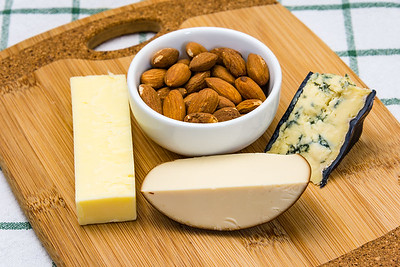 Almonds and cheese