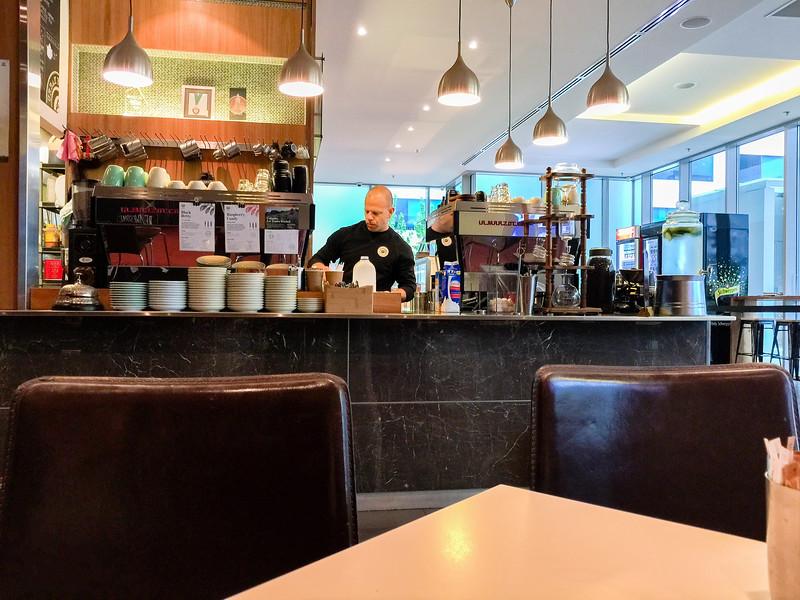 Urban Bean Espresso Bar where the baristas are very friendly