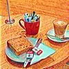 Coffee and raisin toast