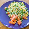 Peas, corn and carrot