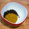 Curry powder and peppercorns