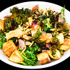 Roast potato and kale bacon salad
