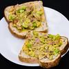 Bacon and avocado on toast