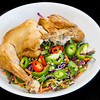 Roast chicken with kale coleslaw