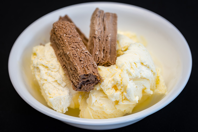 Ice cream and flake
