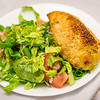 Chicken Kiev with salad