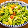 Pear, mango and avocado Bird's eye chilli salad