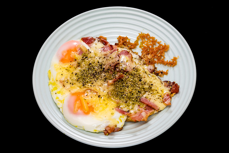 Bacon, eggs and cheese