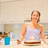 Nicola and her birthday cake