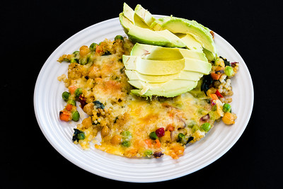Pearl barley couscous and avocado