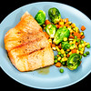 Maple soy salmon and vegetables
