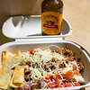 Spicy pork burrito bowl