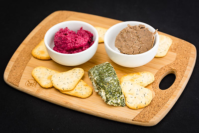 Chicken pâté, beetroot dip and cream cheese