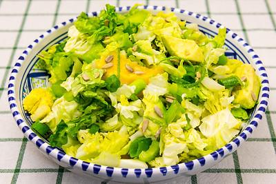 Meat-free mango and avocado salad