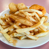 Seafood basket with chips and gravy