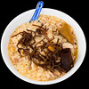 Chicken congee with black fungus