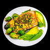 Honey soy salmon and vegetables
