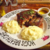 Pork ribs with prime rib and mashed potato