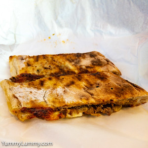 Leftover Turkish lamb pizza