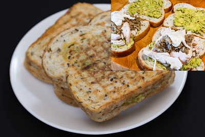 Chicken and chilli avocado toasted sandwich