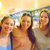 Grace, Larissa and Nicola at Hog's Breath Café