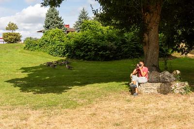 deux photographes à l'Abbaye des Vaux de Cernay