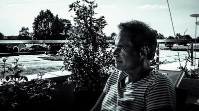 portrait en terrasse